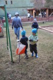 Orienteerumismäng peredele lasteaia õuel koostöös Võru Orienteerumisklubiga 25.04.2013