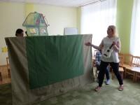 """Vabatahtliku Olesia projekt """"Ukraina muinasjutt Tare-tareke"""" nukulavastus ja proov mai 2016"""