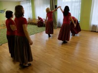 Rahvusvahelise tantsupäeva tantsu harjutamine aprill 2015